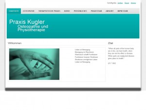 Praxis Kugler - Homepage Screenshot