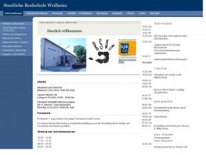 Realschule Weilheim - Homepage Screenshot